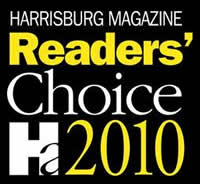 Maid To Perfection won the Harrisburg Magazine Reader's Choice Award for Best Houe Cleaning Service in 2010